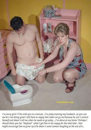 femdom diaper humiliation captions
