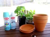 Spray paint terracotta pots - Epicsoid.com