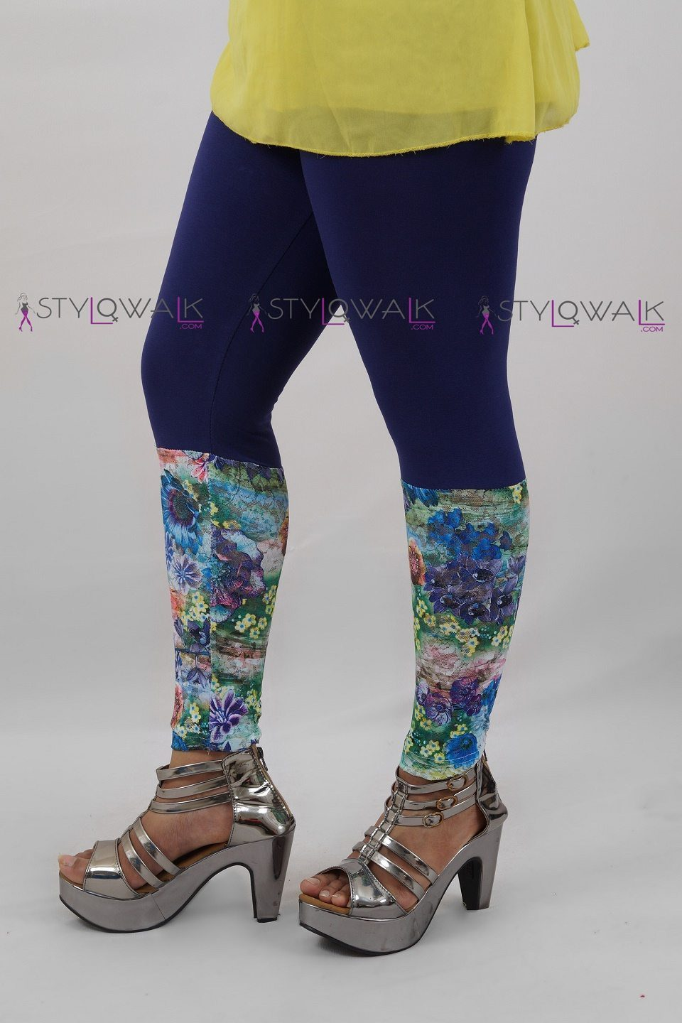 Wholesale Tights Manufacturers Printed Half Net Legging