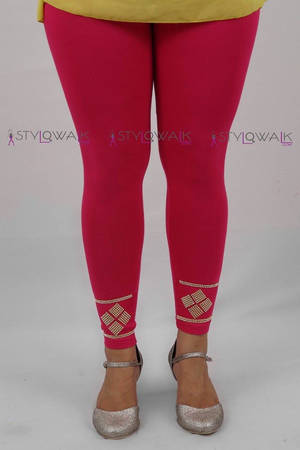 Wholesale Tights Manufacturers Wholesale Printed Half Net Leggings For Women Manufacturers
