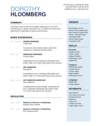 Free cv templates download with CV sample  cv format and how to do - writing one page resume