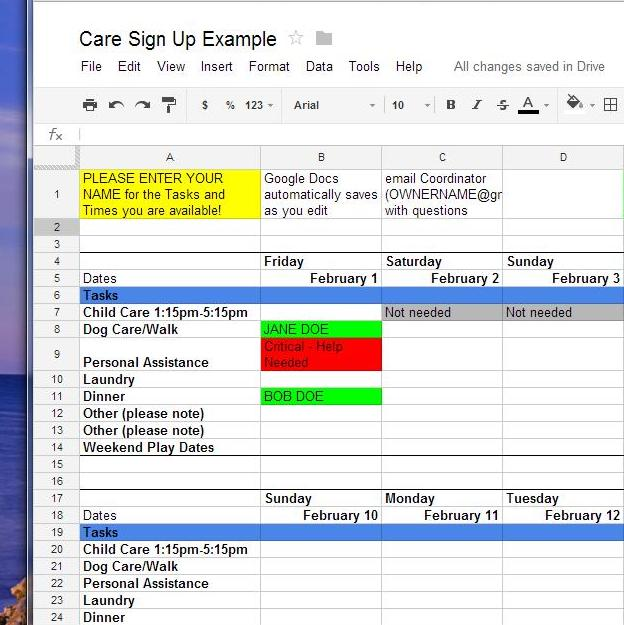 How To Use Google Docs for Online Sign-Up Sheets EpiscopalShare