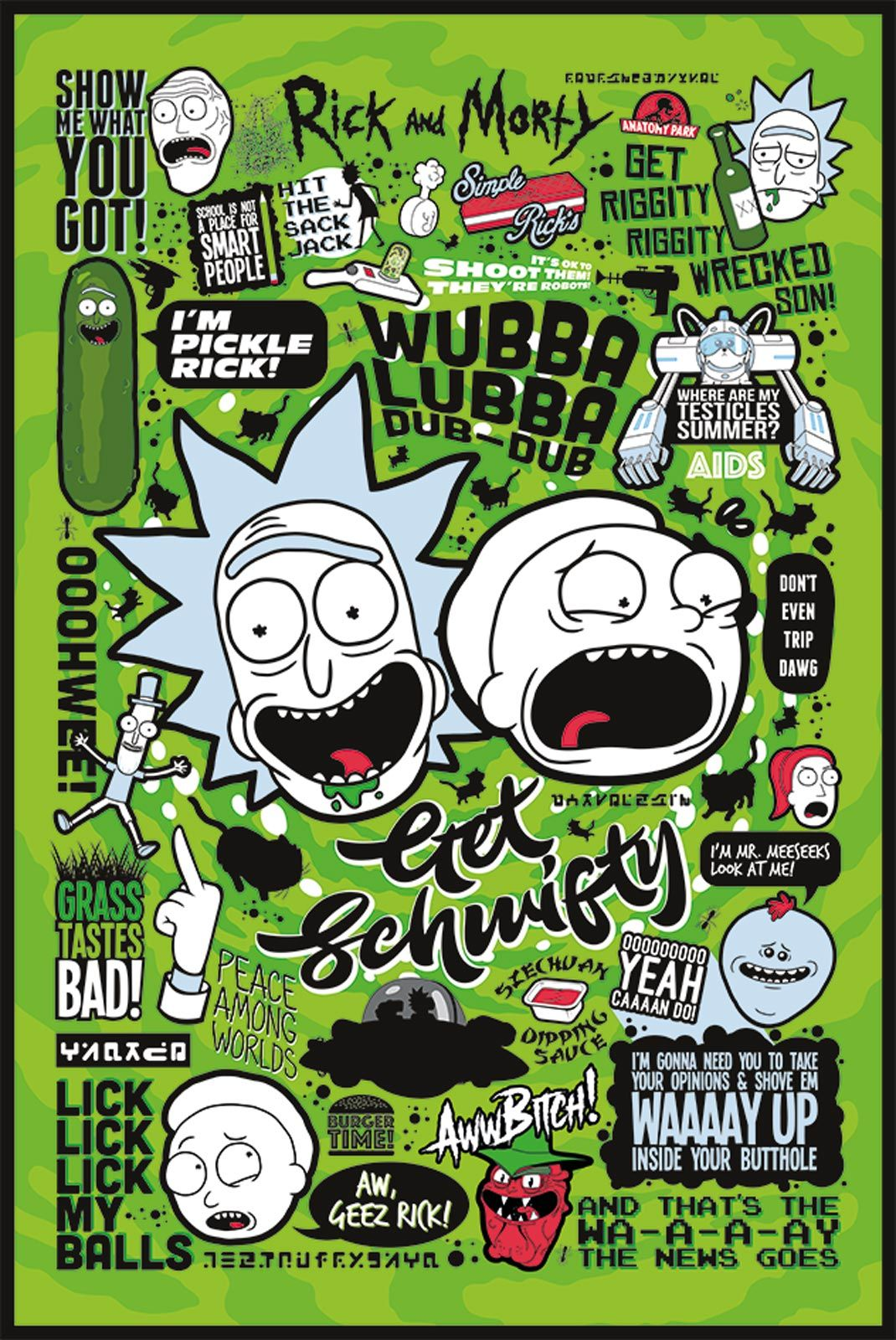 Rick And Morty Quote Wallpaper Plakat Z Serialu Rick And Morty Eplakaty Pl