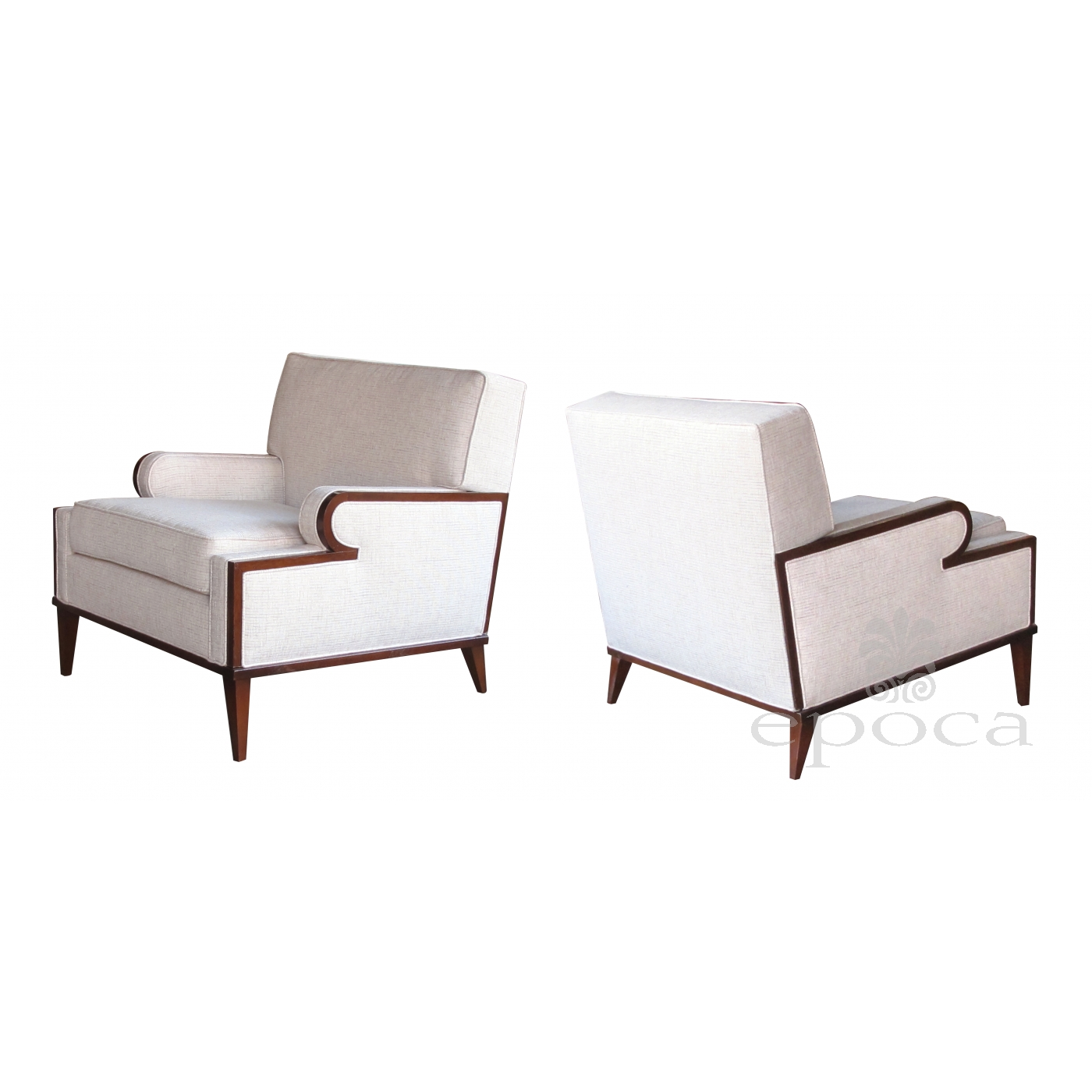 Chairs Comfortable A Stylish And Comfortable Pair Of American 1960 S Upholstered Club
