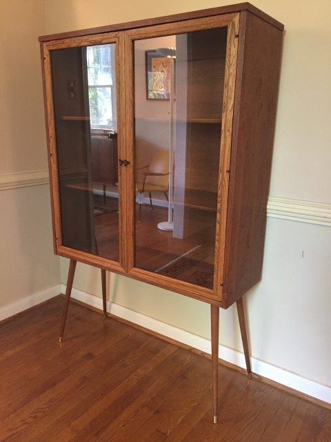Mid Century Modern Patio Mid Century Glass Front Display Cabinet By Broyhill