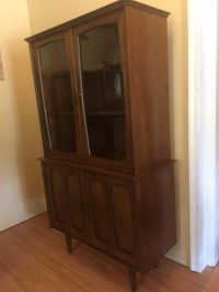 Mid Century Modern Compact China Cabinet by Bassett ...
