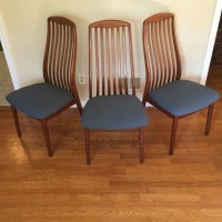 Danish Modern Teak Dining Chairs by Benny Linden - EPOCH