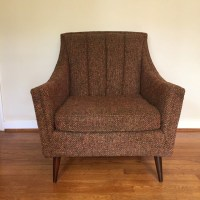 Mid Century Modern Pair of Upholstered Lounge Chairs - EPOCH