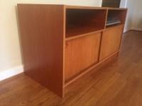 Danish Modern Teak Audio Console Storage Cabinet - EPOCH
