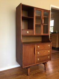 Mid Century Modern China Cabinet Tivli Series by Stanley ...
