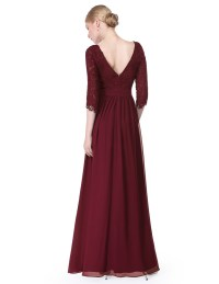 Lace Formal Evening Gowns Half Sleeve Bridesmaid Dresses ...
