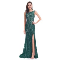Maxi Lace Formal Evening Party Dress Long Split Banquet