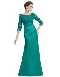UK Long Sleeve Lace Formal Evening Dresses Bridesmaid ...