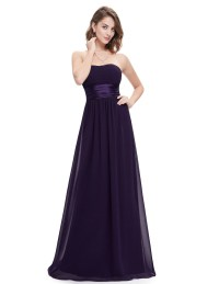 Strapless Wedding Ball Long Bridesmaid Dress Ball Party ...