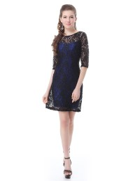 Elegant Short Lace Women's Cocktail Party Dresses Casual ...
