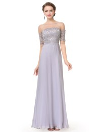 Ever-Pretty Long Chiffon Half Sleeve Evening Dress ...