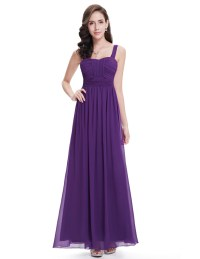 Ever Pretty Women Gorgeous Long Purple Bridesmaid Prom ...