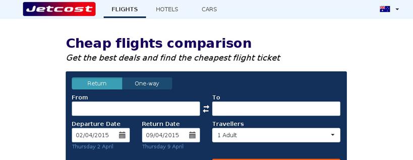 Jetcost: il comparatore di prezzi di voli, hotel e autonoleggio