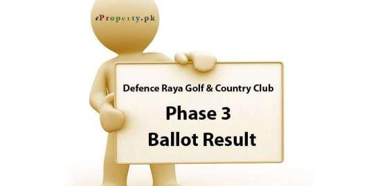 Defence Raya Lahore Phase 3 Ballot Results