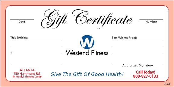 Personal Training Gift Certificates Marketing for Personal Trainers