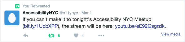 Screenshot of previously stated tweet