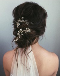 Messy bun wedding hairstyles