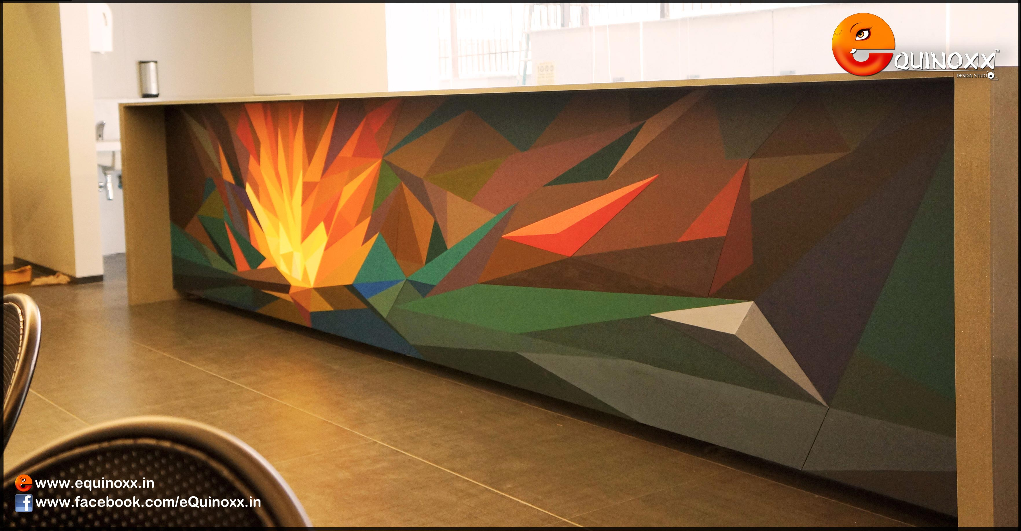 Abstract Wall Paintings for Ardor Internationals