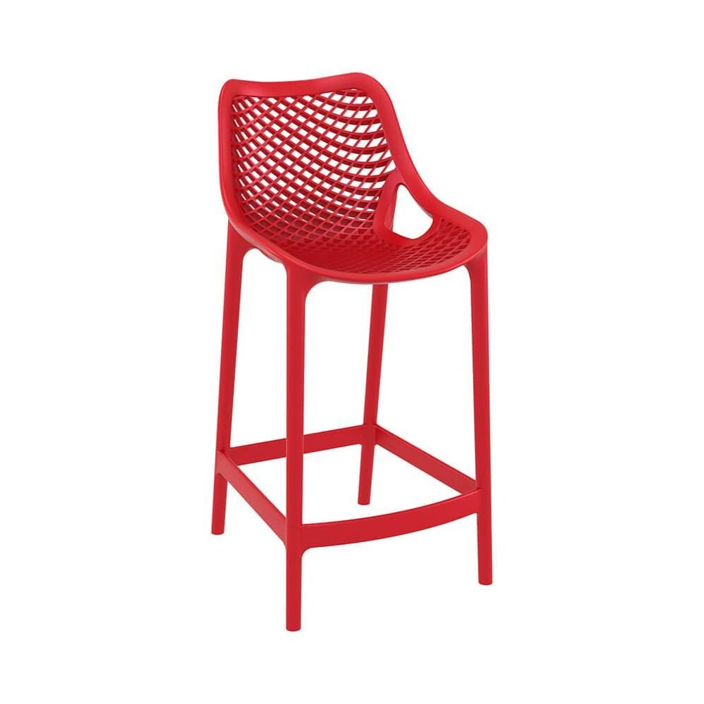 Tabouret De Bar Assise 65 Tabouret De Bar En Polypropylène H Assise 65 Mm Spring Rouge Equi