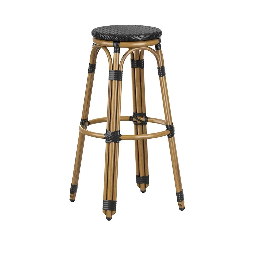 Tabourets Bar Empilables Tabouret Empilable De Bar En Aluminium Time Noir Equipement Direct