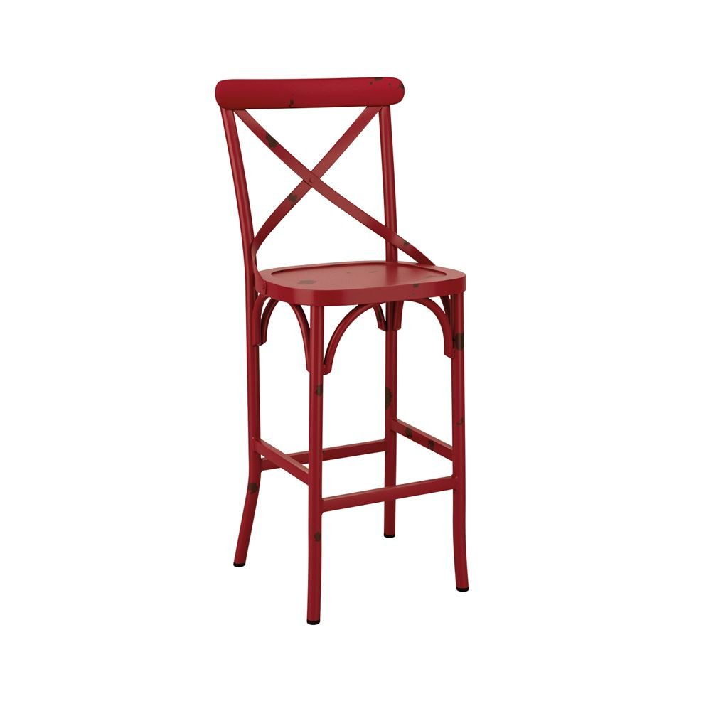 Tabourets Bar Empilables Tabouret Empilable De Bar En Aluminium Cafe Rouge Vintage Equipem