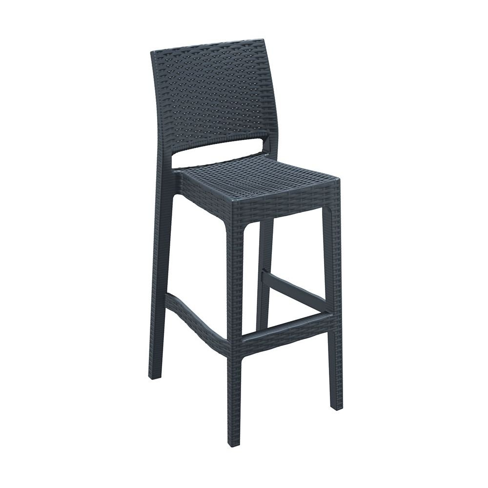 Tabourets Bar Empilables Tabouret Empilable De Bar En Résine Mint Noir Equipement Direct