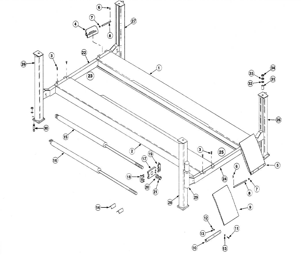 rotary lift motor wiring diagram