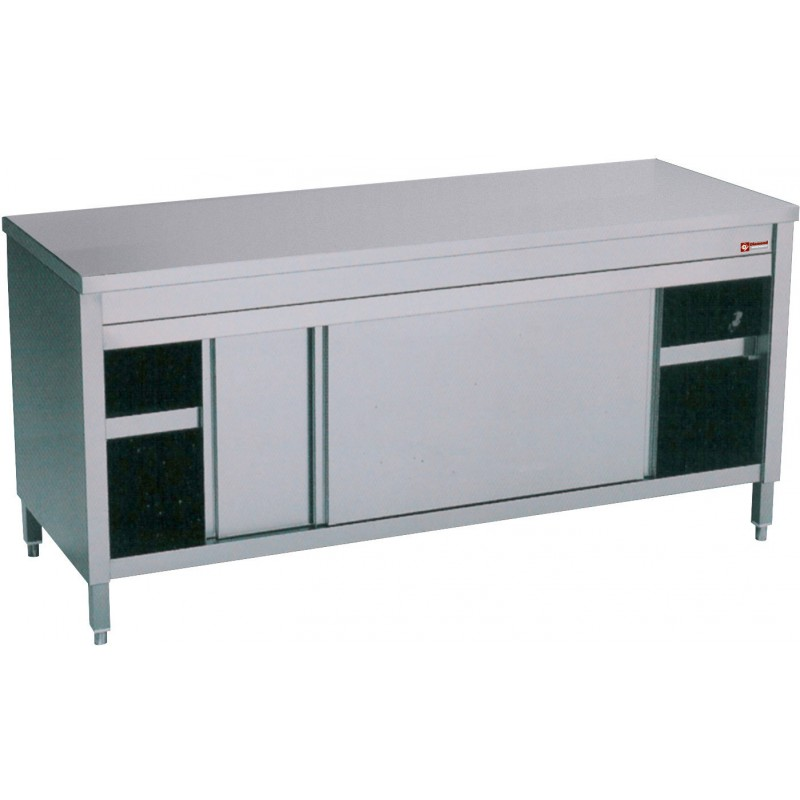 Table Inox Professionnel Table Armoire Inox Professionnel Avec Portes Coulissantes