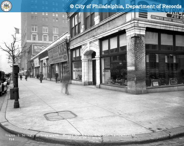 Broad Street - Contract 110 - West Sidewalk - Broad Street South from Southwest Corner Callowhill Street.