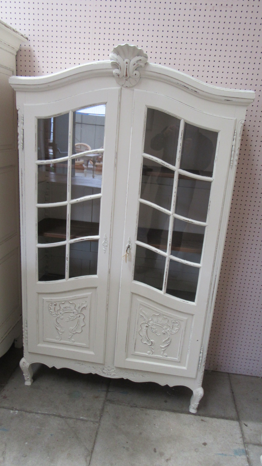 Vintage Vitrine Vintage Painted French Vitrine Eras Of Style Eras Of Style