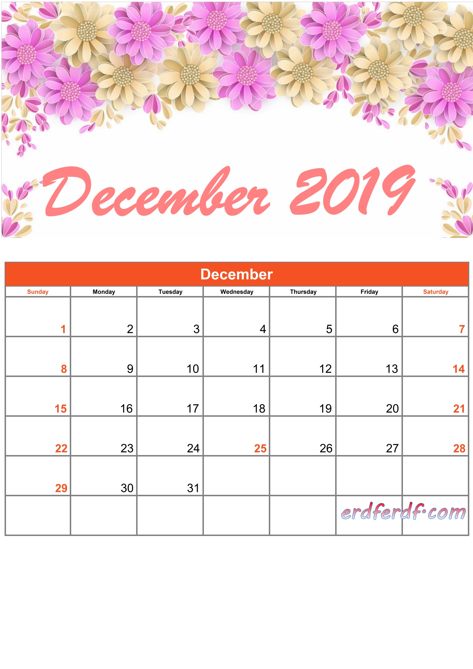 printable calendar 201