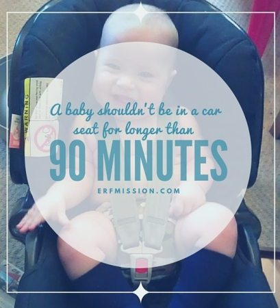 A baby shouldn't be in a car seat for longer than 90 minutes!