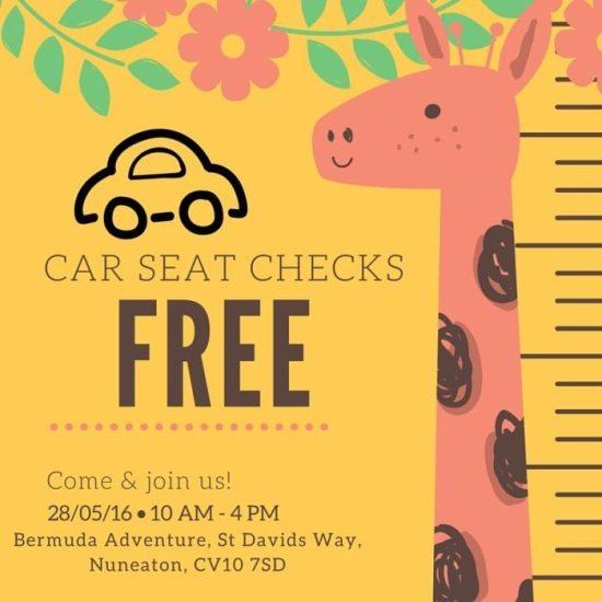 Saturday 28th May: Nuneaton – Free Child Car Seat Checks!