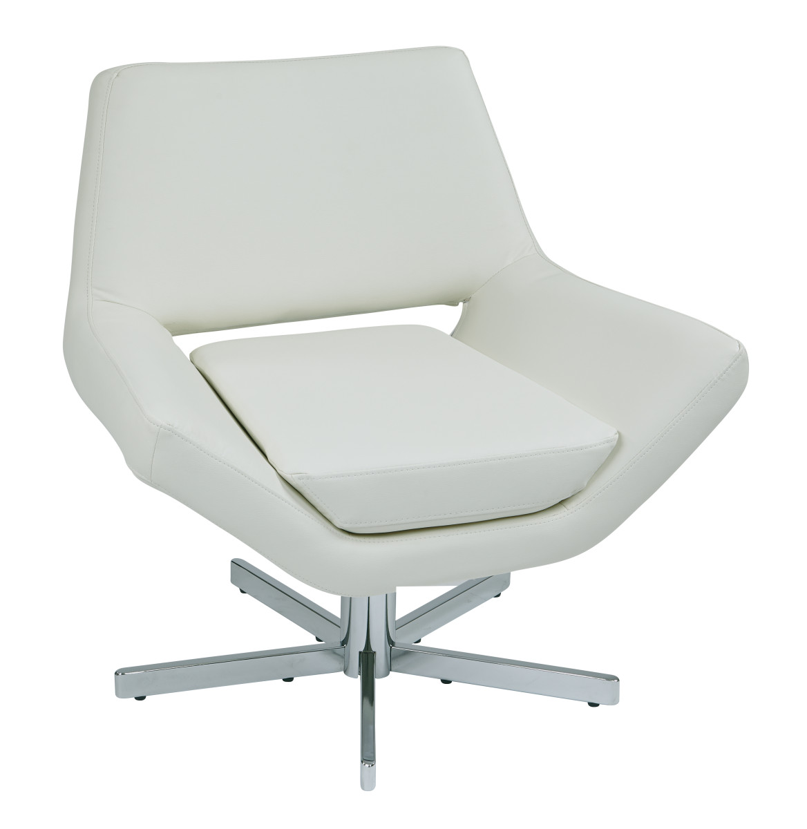 White Modern Chair Quotyield 31 Quot Quot Modern White Faux Leather Lounge Chair With