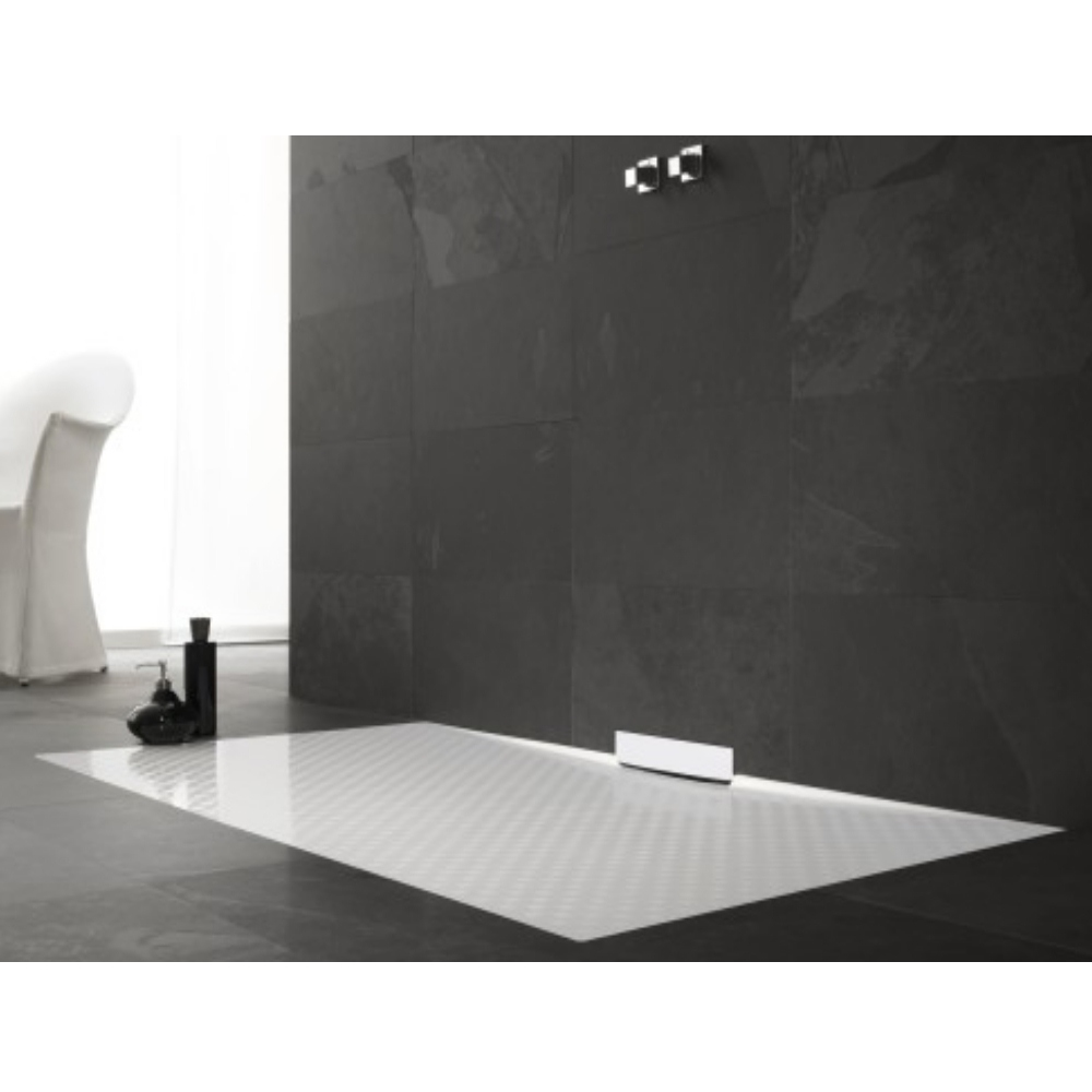 Kaldewei Xetis Kaldewei Xetis 1000 X 1200mm Rectangular Steel Shower Tray In Alpine White