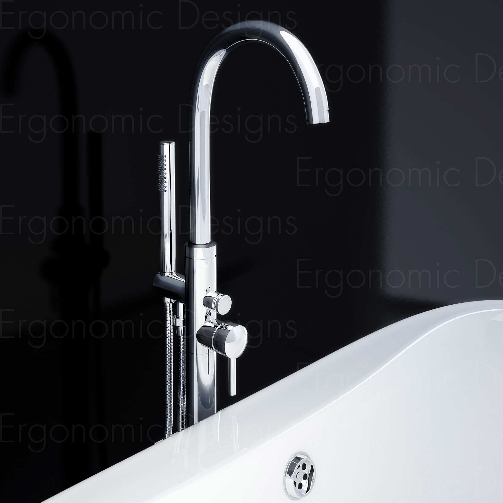 Freestanding Bath Taps Mono Floor Standing Round Freestanding Bathroom Bath
