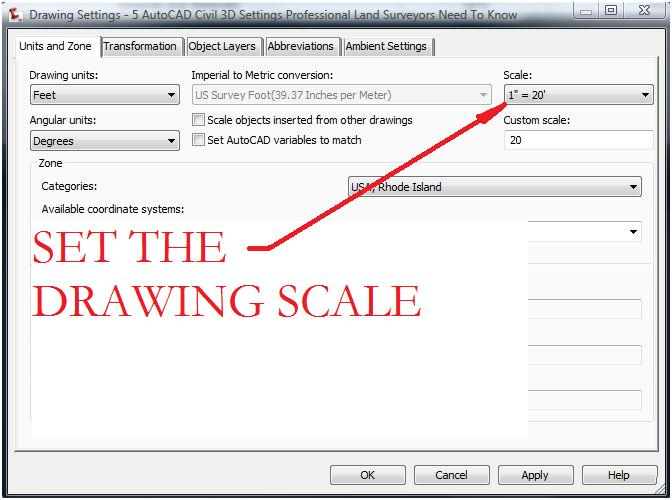 AutoCAD Civil 3D Surveying Quick Tips and Tricks Drawing Scale