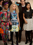 Eric Daman is costume designer of The Carrie Diaries with (L-R) Freema Agyeman, Annasophia Robb, and Ellen Wong.