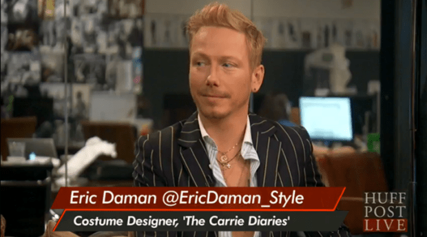 Eric Daman, Costume Designer of The Carrie Diaries @EricDaman_Style appearing on HuffPostLive