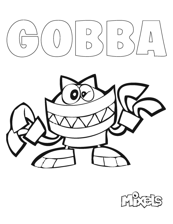 Mixels coloring page gobba my little corner for Lego mixels coloring pages