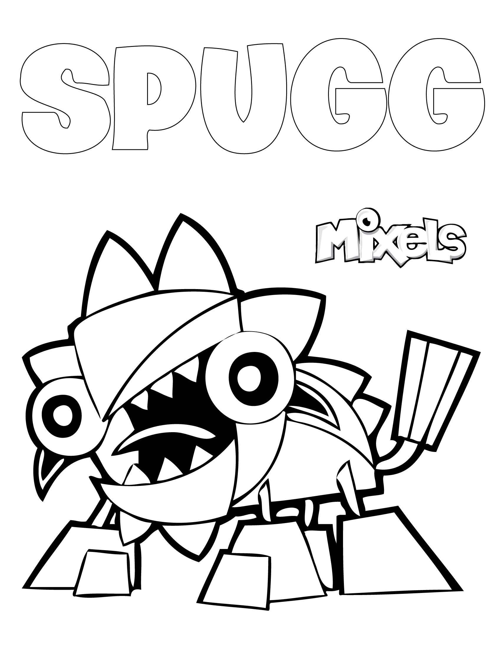 mixels coloring pages - mixels coloring pages my little corner page 2