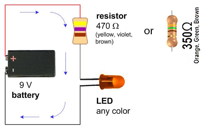 9 volt led circuit diagram Find image