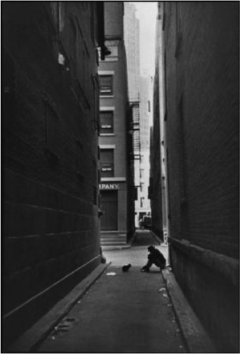 Henri Catier-Bresson / USA. 1947. New York City. Manhattan. Downtown. �