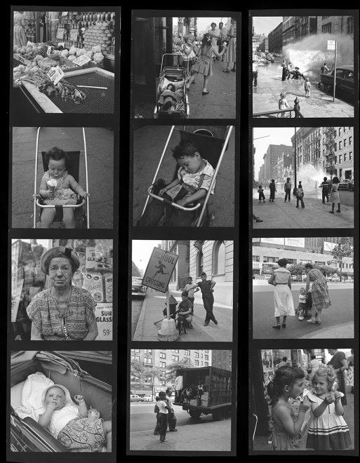 Vivian Maier Contact Sheet / New York, 1954