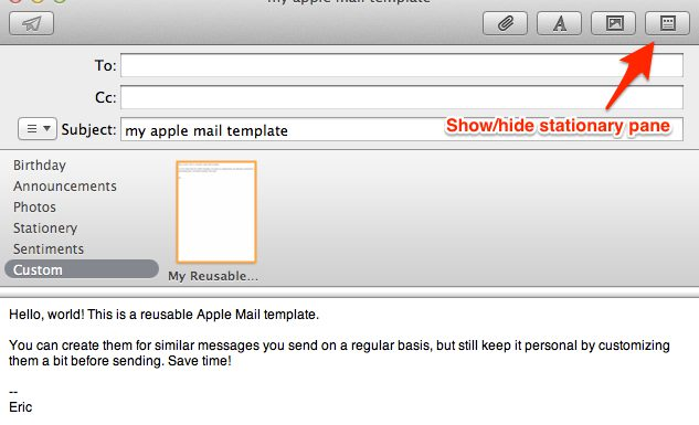How to Create Reusable Apple Mail Templates